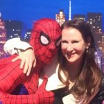 Shanda Sawyer with Spiderman